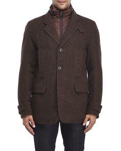 MARC NEW YORK Albany Herringbone Bib Jacket