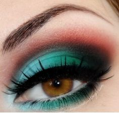 Red and green makeup