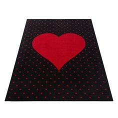Sydän plyysimatto punainen - Tuppu-Kaluste Bambi, Black Rug, Rug Size, Playroom, Kids Rugs, Stitch, Crafts, Design, Decor
