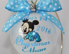 Baby's First Christmas Ornament personalized by ShopElainesCrafts