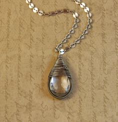 Etsy pendant. My new favorite go to piece of jewelery…. Fabulous seller too :)