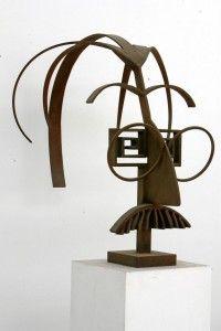 Metal Art Sculpture, Modern Contemporary, Scrap, Table Lamp, Statue, Projects, Geometric Sculpture, Metal Art, Wire Sculptures