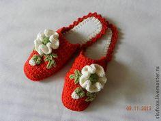 """Обувь ручной работы. Ярмарка Мастеров - ручная работа """"Страстные маки"""" тапочки (подошва валяная). Handmade."""