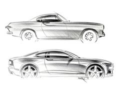 """912 curtidas, 9 comentários - Car Design World (@cardesignworld) no Instagram: """"Volvo Polestar 1 vs Volvo P1800 (1961) #cardesign #car #design #carsketch #sketch #volvo #polestar…"""""""