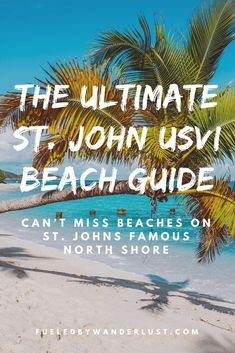 The ultimate guide to the best beaches on St. John in the US Virgin Islands. These beautiful St. John USVI beaches range from the most popular, quietest, prettiest, best for snorkeling, and more. There is a beach on St. John's North Shore for everyone! Virgin Islands All Inclusive, Virgin Islands Vacation, Us Virgin Islands, Romantic Vacations, Romantic Travel, Family Vacations, Virgin Islands National Park, Caribbean Culture, Honeymoon Spots