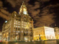 Neil Howard - Google+ - The Royal Liver Building at night Photography Portfolio, Night Photography, Liverpool, Big Ben, England, Architecture, Building, Google, Arquitetura