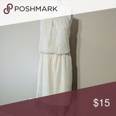 Emma and Michele Sleeveless Dress Cream white Dress. Gently used, clean, no rips or stains. Size 12 Dresses Maxi