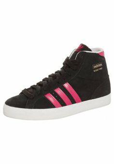Dames Adidas BASKET PROFI Sneakers hoog Zwart Adidas Belgie online Ook in jouw maat, zomer 2014 aanbieding