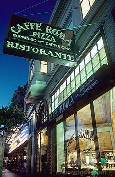 Cafe Roma North Beach San Francisco California