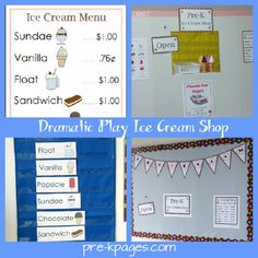 dramatic play ice cream shop but has loads of other ideas and even printables for small fee!