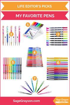 Life Editor's Picks: My Favorite Pens - Sage Grayson Life Editor Brush Pen Art, Tombow Dual Brush Pen, Passion Planner, Life Planner, Book Outlet, Flower Pens, Best Pens, Marker Art