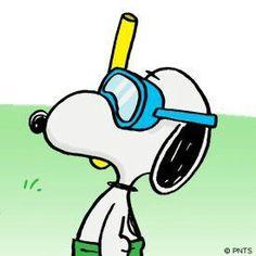 Snoopy Snorkling ~ღ~