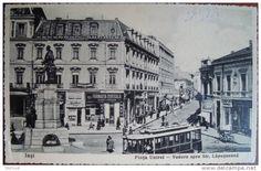 Piata Unirii spre Strada Lapusneanu, Farmacia Werner, 1936, Iasi, Romania
