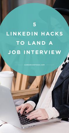 Career infographic & Advice 5 Almost Unknown LinkedIn Hacks to Land a Job Interview Career Change, New Career, Career Advice, New Job, Career Planning, Career Help, Career Ideas, Career Goals, Tips