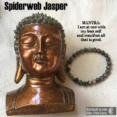 Spiderweb Jasper connects you to the energetic webs of life, and to the spider #magic of the fates spinning out our destiny.  Spiderweb Jasper soothes frayed nerves with a Valium-like effect.  KEEP #CALM: #Spiderweb #Jasper #yoga #Mala #Bead #Bracelet #mens #bracelets #womens #mens #energy #healing #spiritual #meditation #crystal #crystals #love #style #luck #lucky #artisan #handmade #jewelry #OOAK #fashion #love #blessed #black #design #karma #buddha