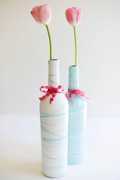 from standard wine bottle to pretty vase