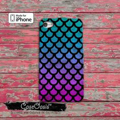 Mermaid Scales Pattern Cute Purple Blue Ombre Tumblr by CaseOasis Escamas!!