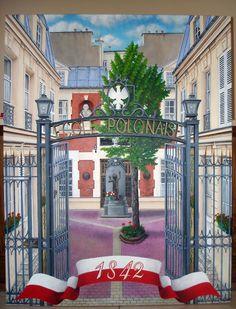 Szkoła polska im. A. Mickiewicza w Paryżu (front) Akryl 70x90