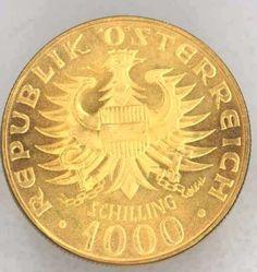 Austria, 1000 Shilling Babenberger Fine gold, approximate 13.5 g, uncirculated, mint condition (S) Dealer Badisches Auktionshaus Auction S...