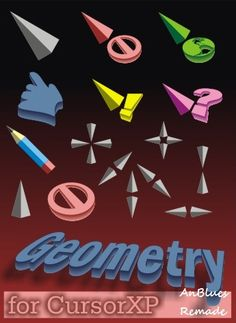 Geometry 3d mouse cursor for windows 7, 8 - free cool mouse cursors download