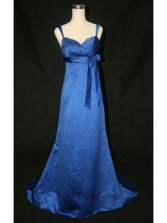 A-line V-Neck Floor-length Satin Bridesmaid Evening Dress SAL0177