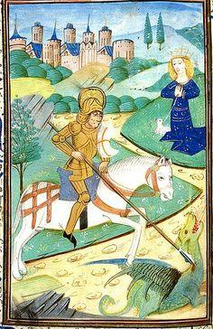illuminated dragons | St. George fighting the Dragon | Illuminated Manuscripts