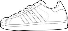 Created vector illustrations of shoe templates for use by online users ...