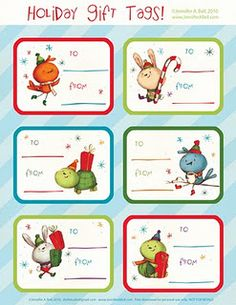Free Holiday Tag Printables (More styles on website.)