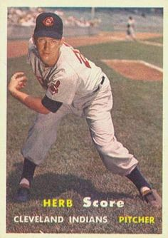 topps baseball cards  herb score | ... set name 1957 topps card size 2 1 2 x 3 1 2 number of cards in set 421