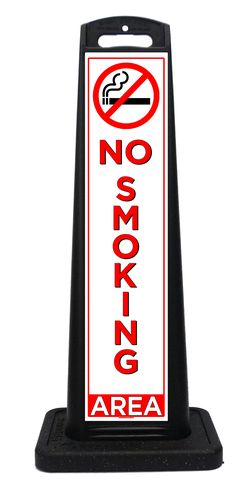 Portable No Smoking sign for all businesses and establishments that designate specific areas for smokers and non-smoking areas. Portable Signs, Road Construction, Construction Companies, Sidewalk Signs, A Frame Signs, Closed Signs, Parking Signs, Custom Labels, Bookends