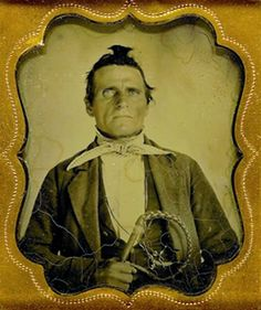 """""""Abraham, Slave Master."""" Ambrotype portrait of an American slave owner or overseer, c. 1850's. The place for the most fascinating photographs from history."""