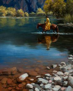 "Jack Sorenson   ""Shallow Crossing""   20 x 16  Oil"