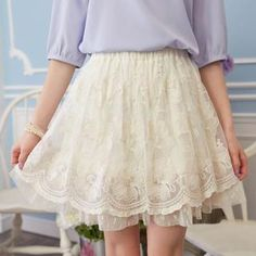Elastic-Waist Lace Skirt from #YesStyle <3 Tokyo Fashion YesStyle.com