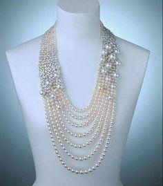 Mikimoto Akoya pearls Necklace by sirkkary Dainty Jewelry, Statement Jewelry, Pearl Jewelry, Bridal Jewelry, Beaded Jewelry, Pearl Necklace, Vintage Jewelry, Fine Jewelry, Handmade Jewelry