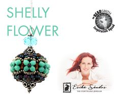 Shelly Flower beaded bead instant dowload for the pdf