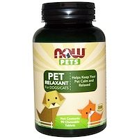 Now Foods, Pets, Pet Relaxant For Dogs/Cats, 90 Chewable Tablets iherb Vitamins For Kids, Support Dog, National Animal, Sports Food, Food Now, Beef Liver, Chicken Flavors, Natural Health, Herbalism