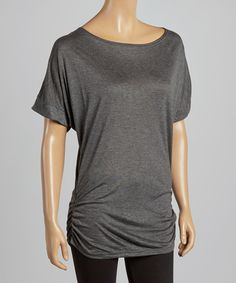 Take a look at the Casa Lee Charcoal Dolman Tunic on #zulily today!