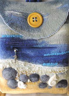 Рюкзаки ручной работы. рюкзак жемчужный берег. Теплый мир Гончаровой Галины. Интернет-магазин Ярмарка Мастеров. Рисунок, шнур