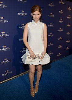 Kate Mara Studded Clutch - Kate Mara Looks - StyleBistro