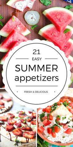 Easy Summer Appetizers Enjoy these Easy Summer Appetizers with friends or family. From fruity to savory and everything in between, these appetizer recipes have you covered! - Everything About Appetizers Beach Appetizers, Summer Party Appetizers, Summer Appetizer Recipes, Summer Potluck, Easy Summer Desserts, Appetizers For A Crowd, Healthy Appetizers, Summer Recipes, Party Snacks