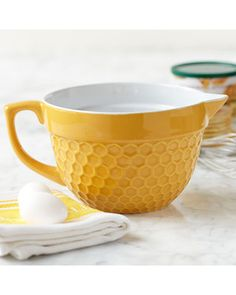 Kitchen Batter Bowl Honeycomb Yellow from Stonewall Kitchen | BHG.com Shop