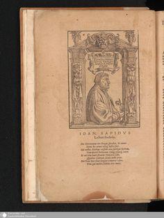 28 - Ioan. Sapidus Lectori studioso. - Page - Digitale Sammlungen - Digital Collections Duessledorf