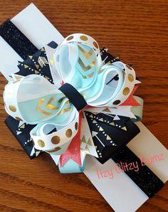 Arrow Hair Bow Mint Hair Bow Baby Hair Bow by ItzyGlitzyBumz