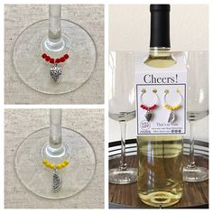 Strawberry & Lemon Wine Charms
