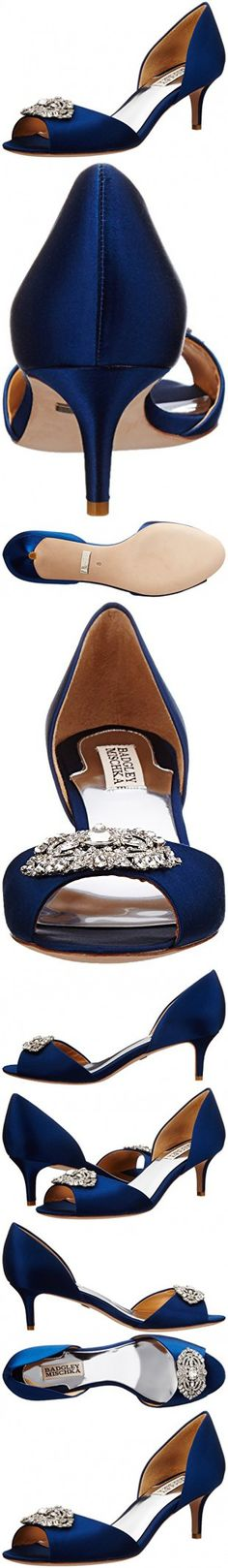 Badgley Mischka Women's Petrina D'Orsay Pump,Navy,8.5 M US