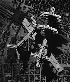 Cluster in the air, by Arata Isozaki, 1960-62, Tokyo, Japan.