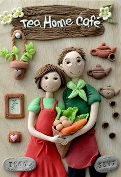 Yusie's Art & Craft: My Clay Craft 2011 Sculpey Clay, Polymer Clay Dolls, Polymer Clay Figures, Diy Arts And Crafts, Hobbies And Crafts, Paper Crafts, Diy Fimo, Diy Clay, Clay Art Projects