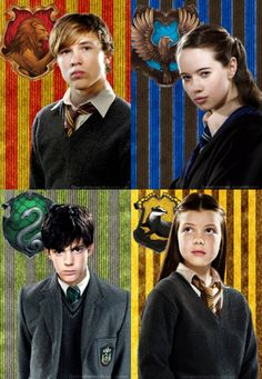 Narnia siblings sorted into Harry Potter houses. So true. Lucy - found Narnia first. Harry Potter Fandom, Harry Potter World, Harry Potter Memes, Potter Facts, Beau Film, Narnia 3, Edmund Narnia, Fangirl, Tribute Von Panem