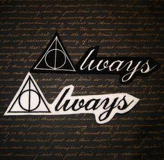 Harry Potter Always Deathly Hallows Iron On by MTthreadz on Etsy
