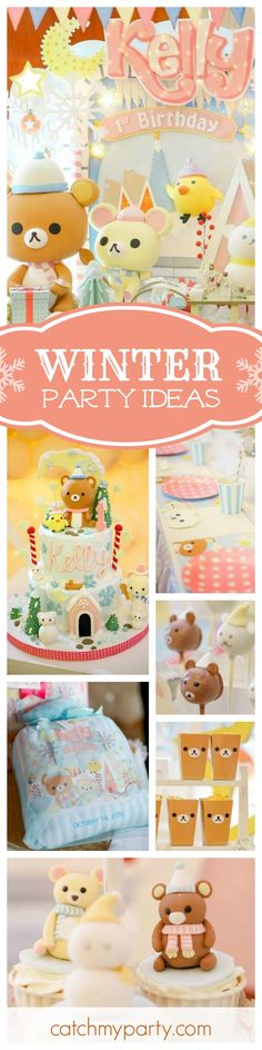 You do not want to miss this gorgeous winter themed 1st birthday. The birthday cake is absolutely amazing!! See more party ideas and share yours at CatchMyParty.com